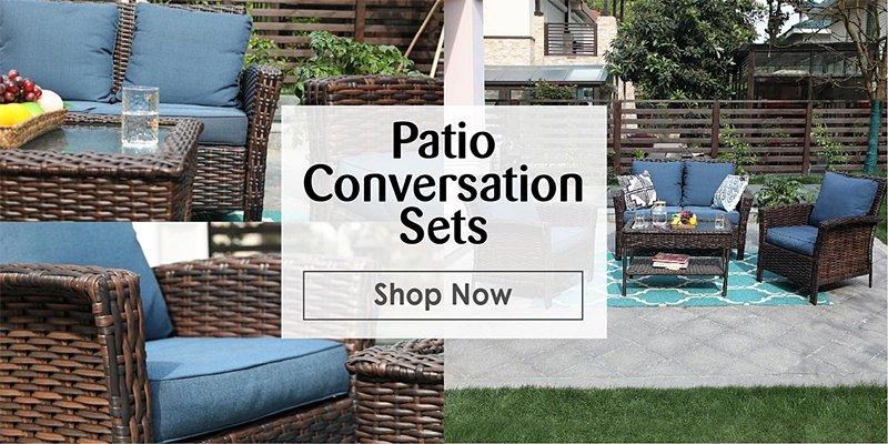 Reliable patio conversation sets