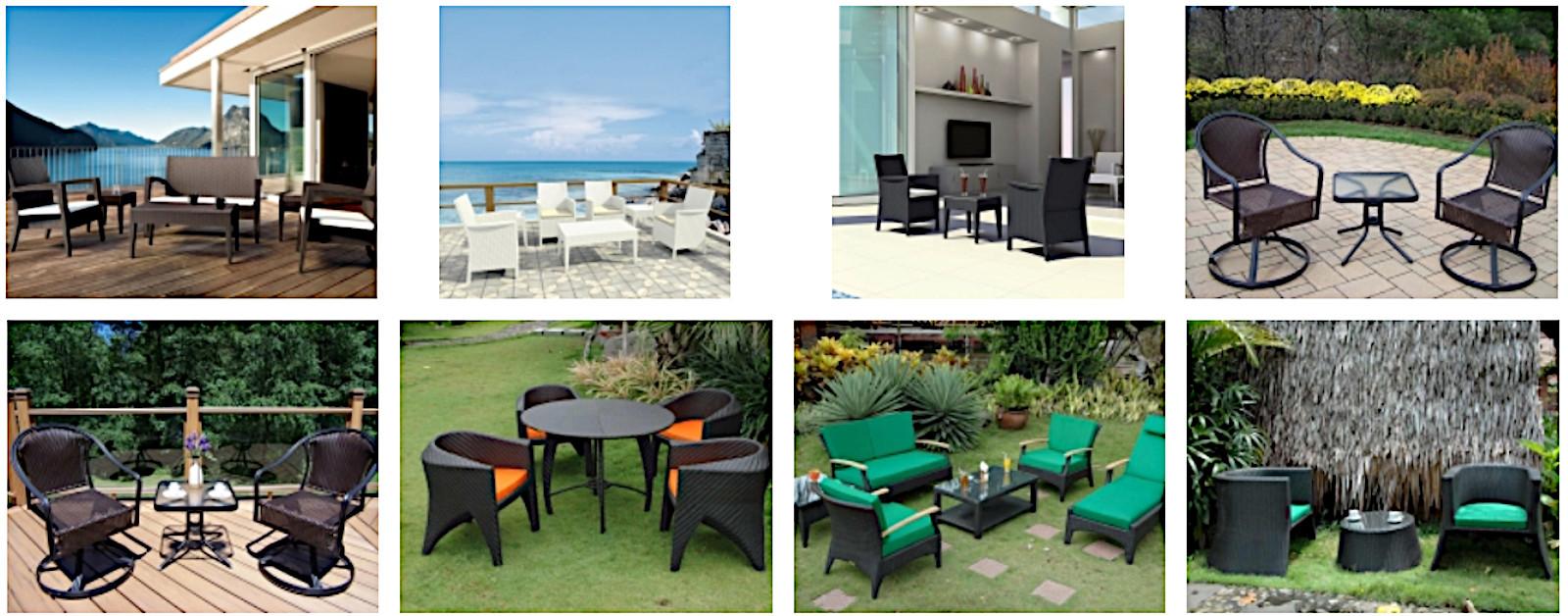 Enhanced adirondack patio furniture