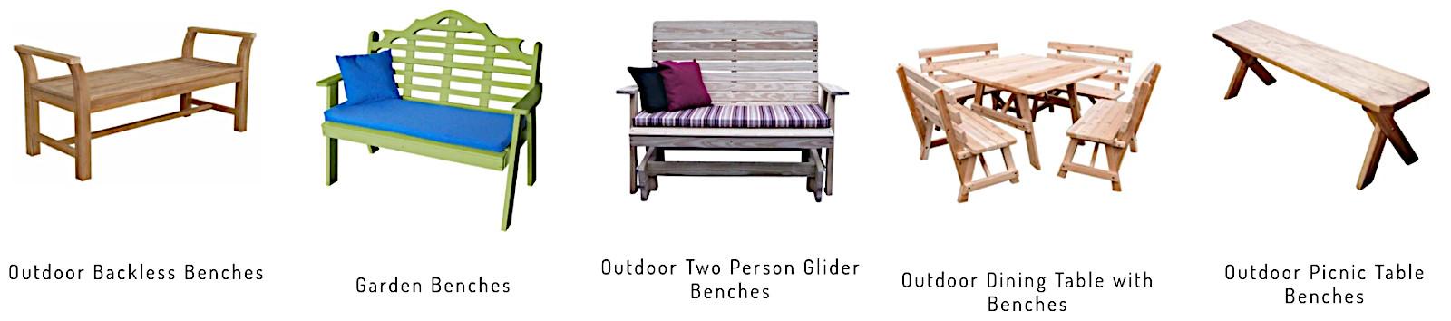 Convenient benches