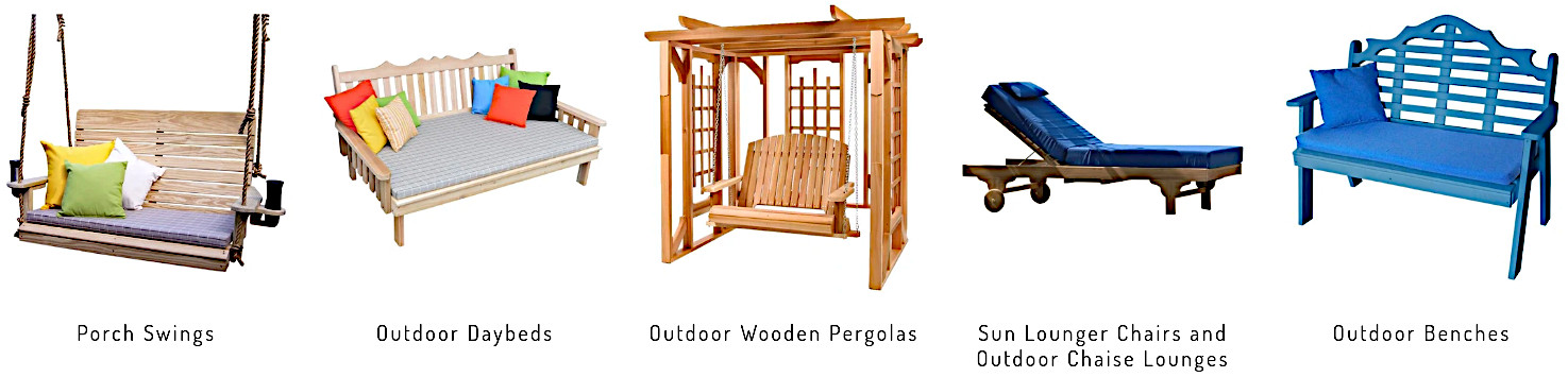 Porch swings Daybeds Benches