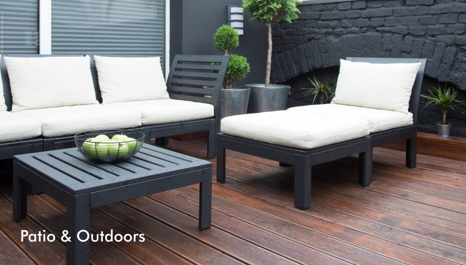 Easy of use patio and outdoor furniture and decor