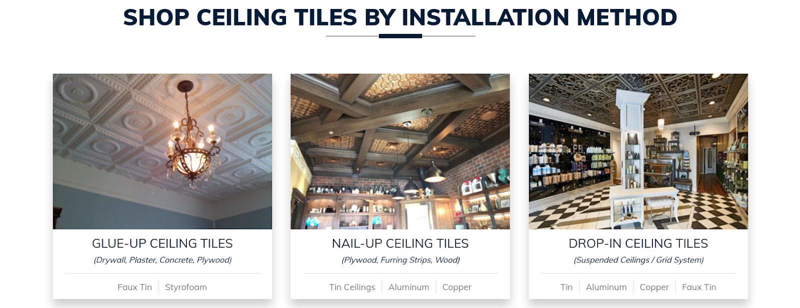 Splendid ceiling tiles
