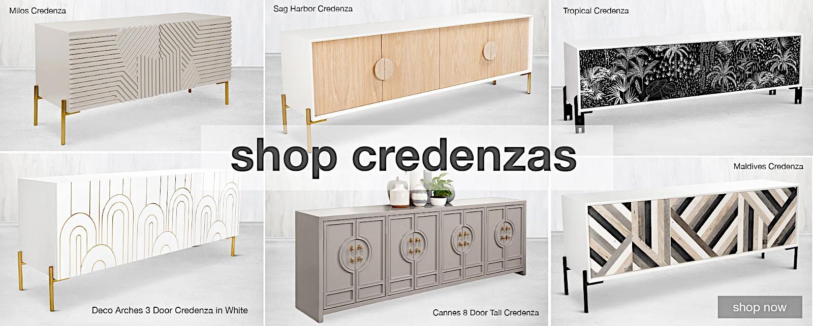 Tasteful modern credenzas, dressers and sideboards