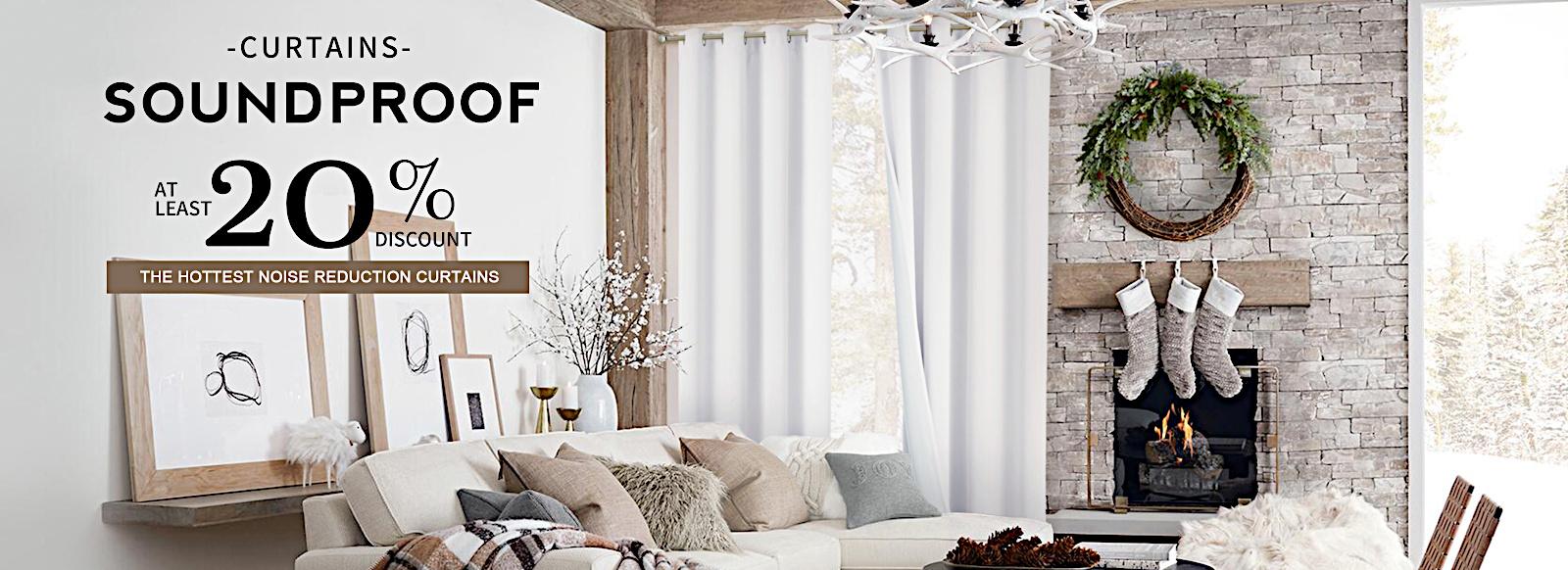 Optimal custom made blackout, soundproof, waterproof curtains