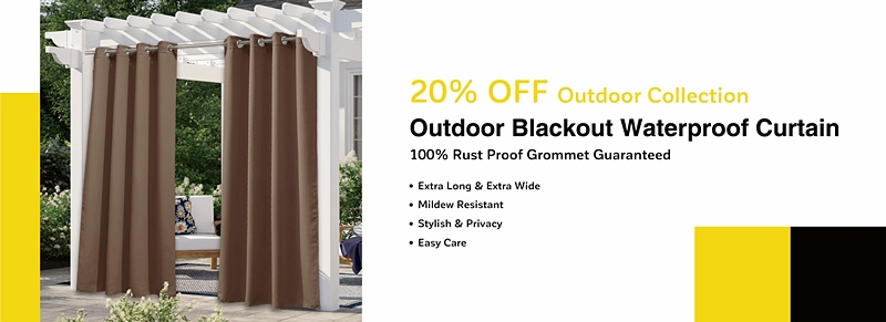 Outdoor blackout waterproof curtains