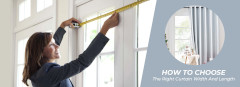 How to choose the right curtain width and length?