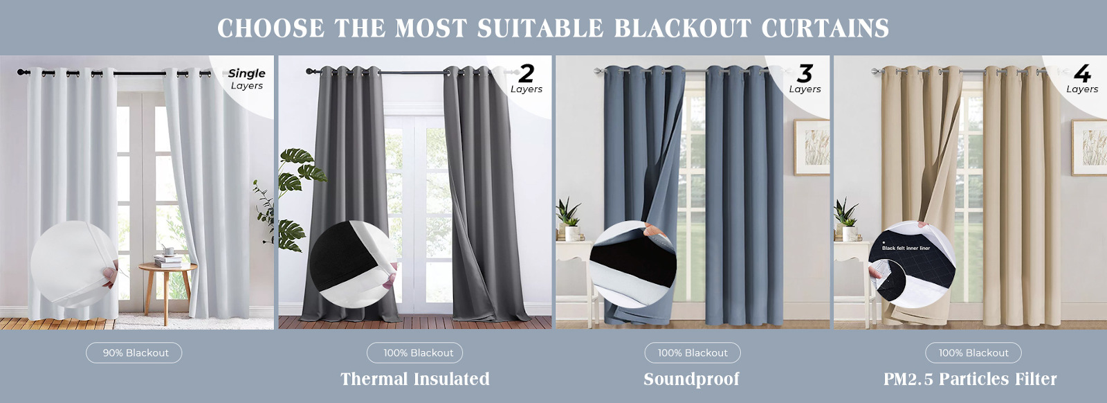 Quality blackout curtains