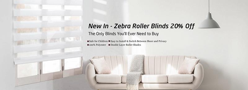 Special Zebra roller blinds