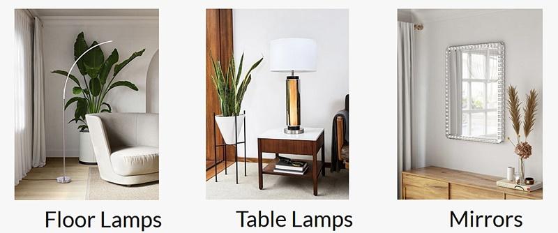 Lovely modern lighting and decor